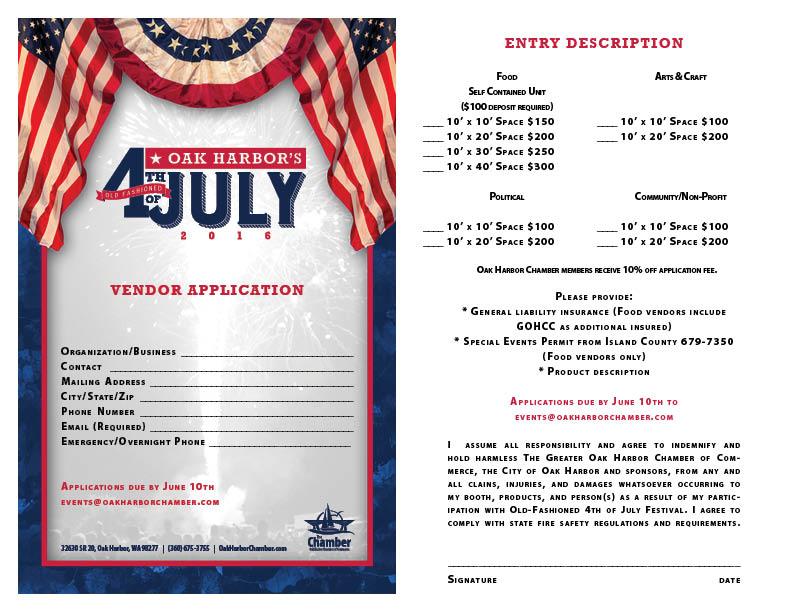 4th of July Vendor Application