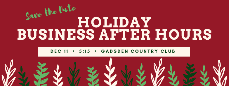 Save the Date for Holiday Business After Hours Dec 11