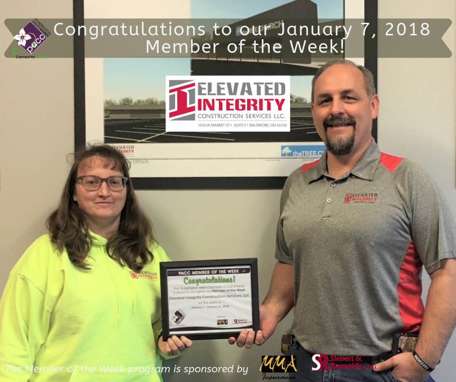 Member of the Week Elevated Integrity Construction Services LLC