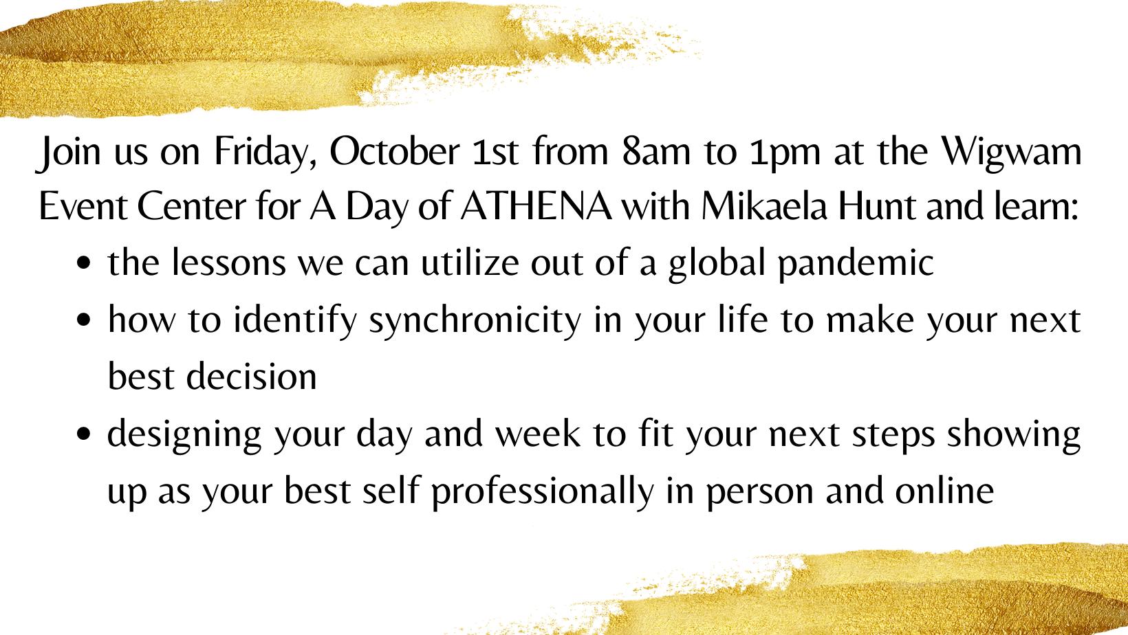 2021 A Day of ATHENA Workshop and Award Program