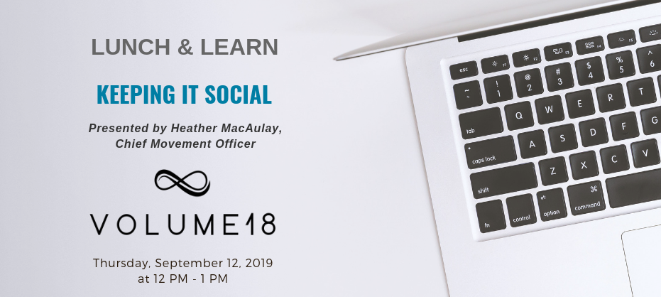 2019 September Lunch & Learn: Keeping it social Share: @ St. John's Ambulance