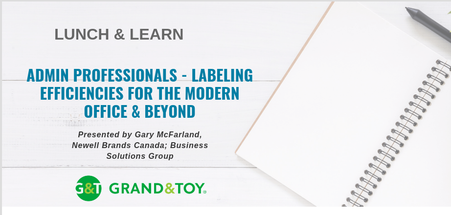 November Lunch & Learn: Admin Professionals - Labeling Efficiencies for the Modern Office & Beyond @ GCACC Boardroom