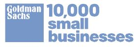 10,000 small businesses logo