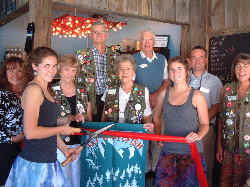 Ribbon Cutting Ceremony at Sweet Peaks Ice Cream - Photo by Bill Milner