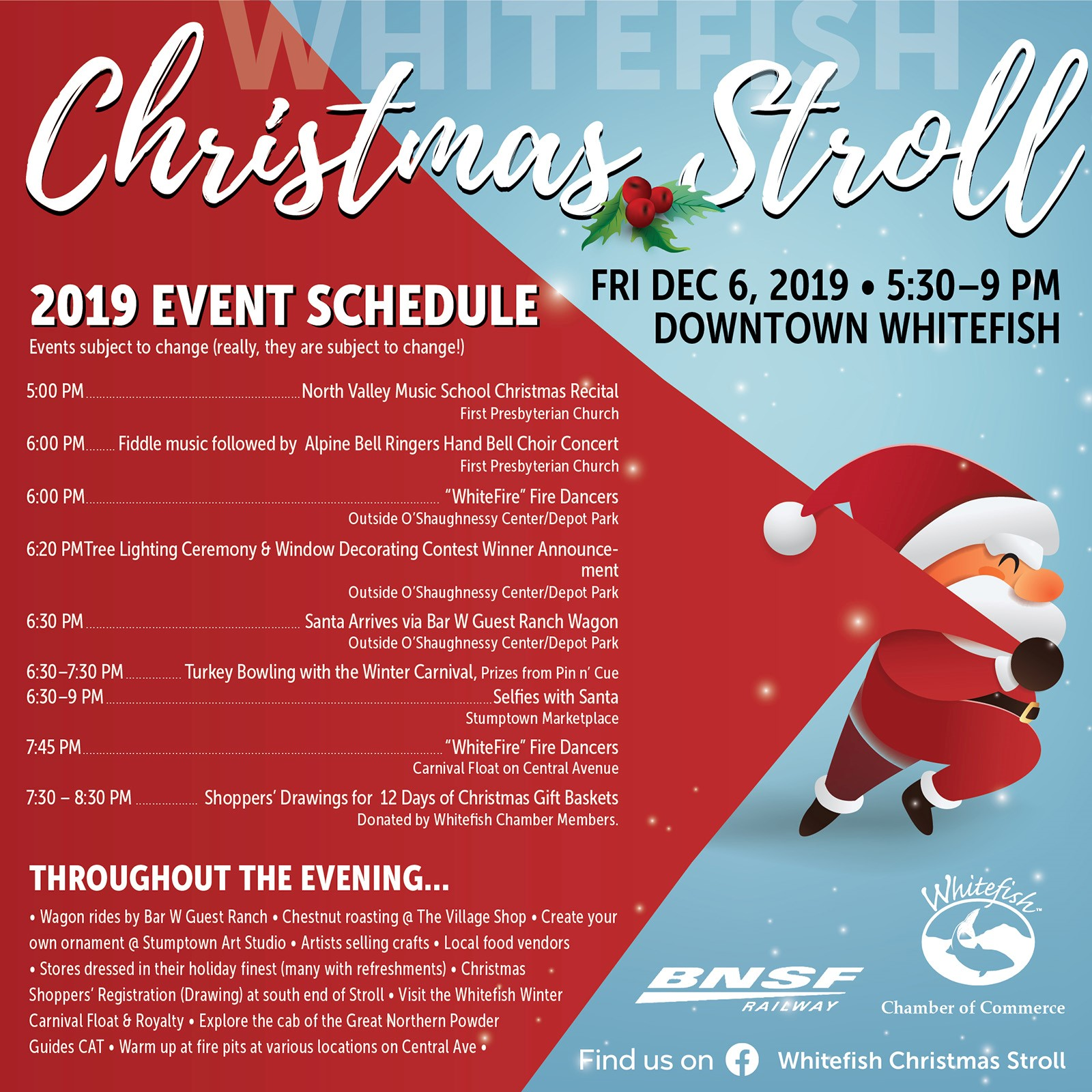 Christmas Stroll Great Falls 2020 Christmas Stroll   Whitefish Chamber of Commerce, MT
