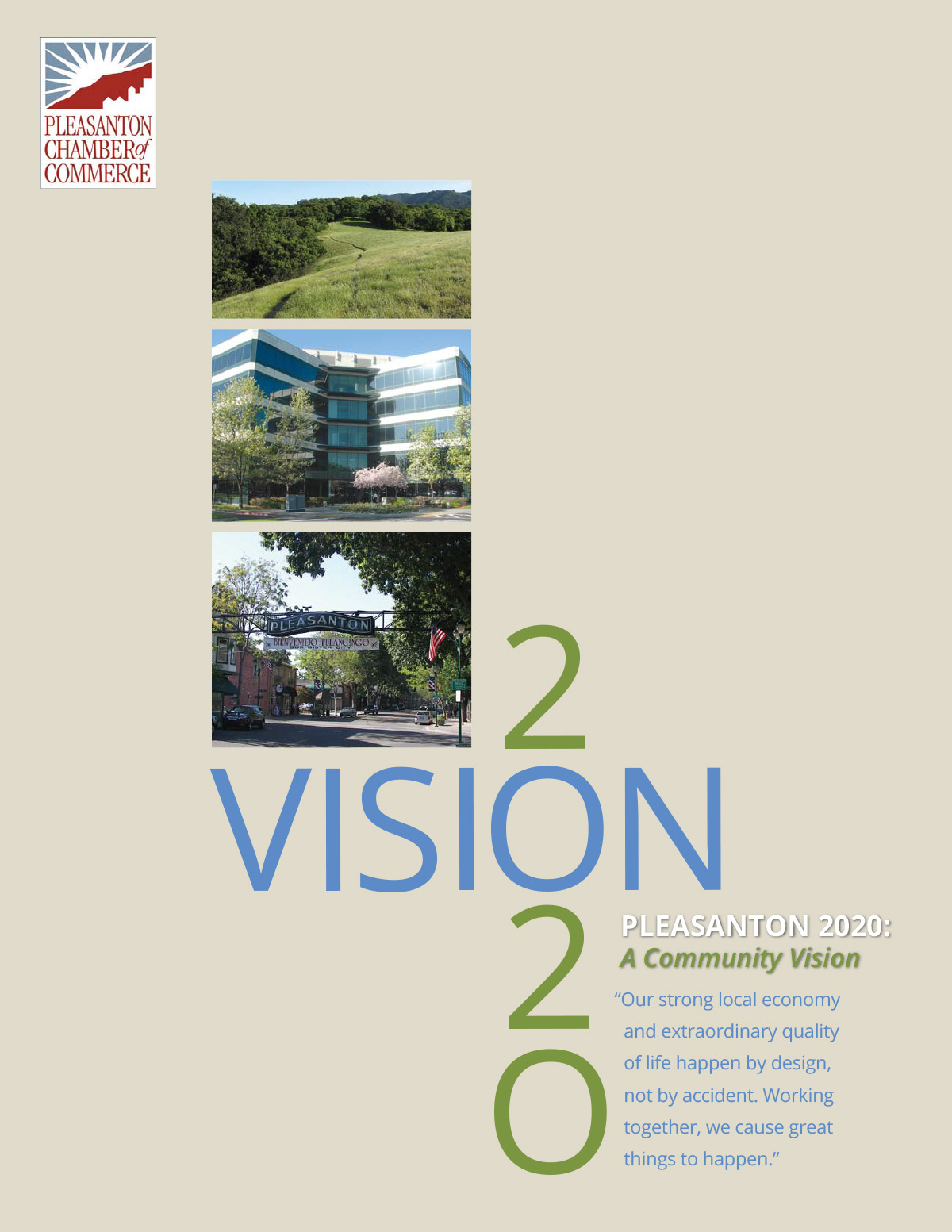 2020: A Community Vision - Pleasanton Chamber of Commerce, CA