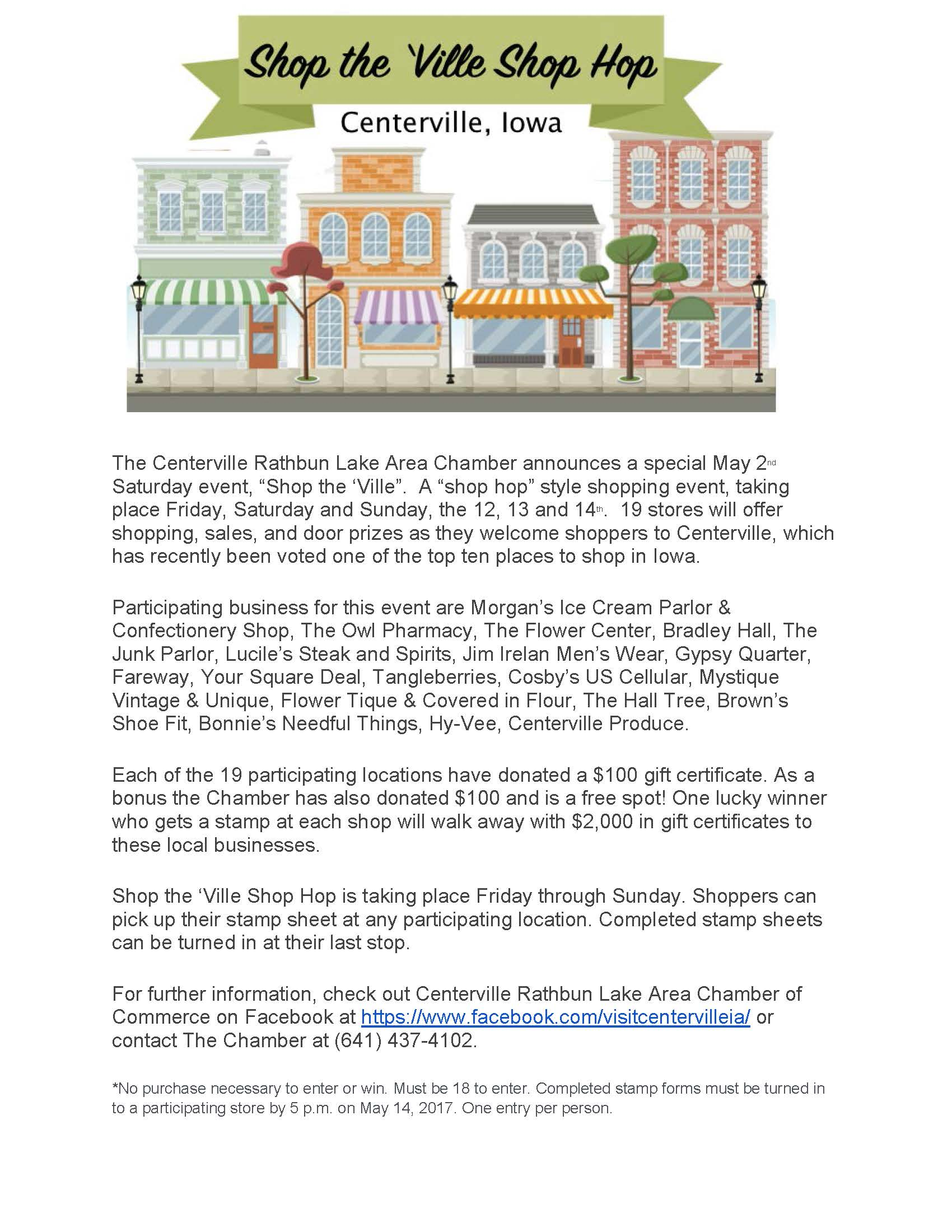 Shop 2nd Saturday in Centerville