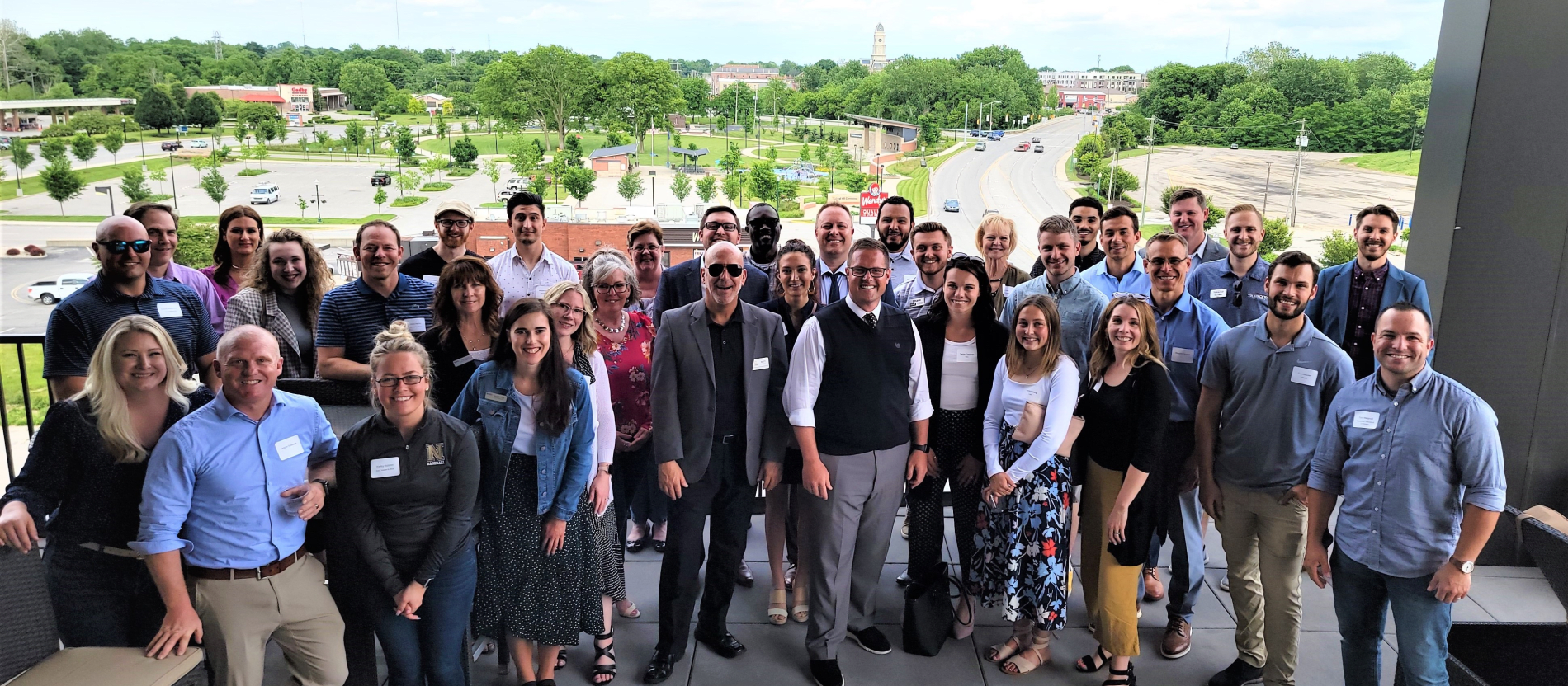 Young professionals and Mayor at BlueSky
