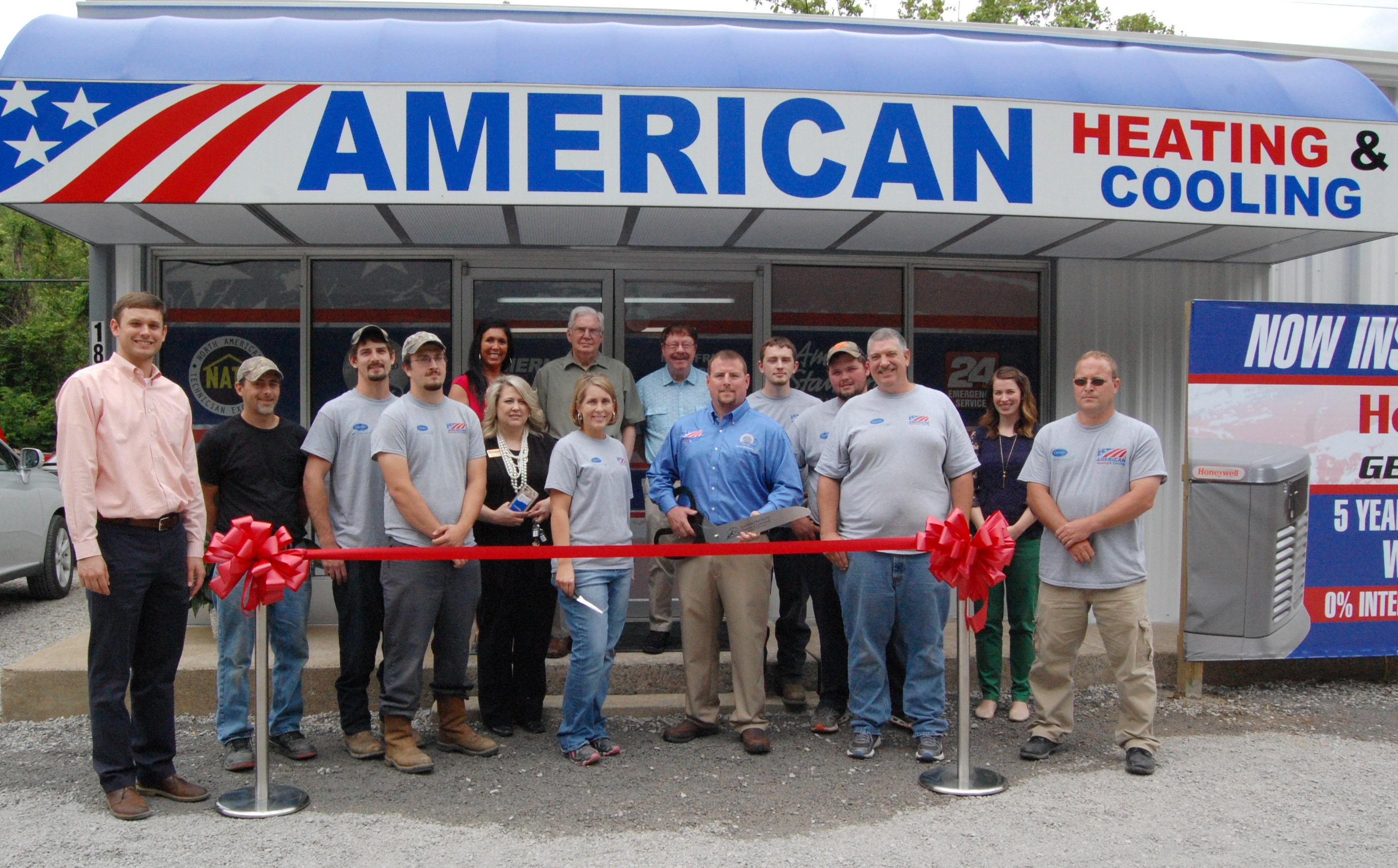 Chamber Members Joined Kyle Wallace Owner Of American Heating And Cooling Staff To Celebrate Their New Location At 1892 South Mayo Trail In Pikeville