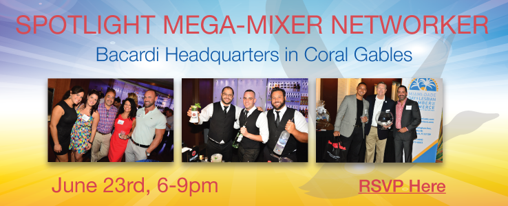 Spotlight Mega Mixer at Bacardi on June 23rd from 6-9pm