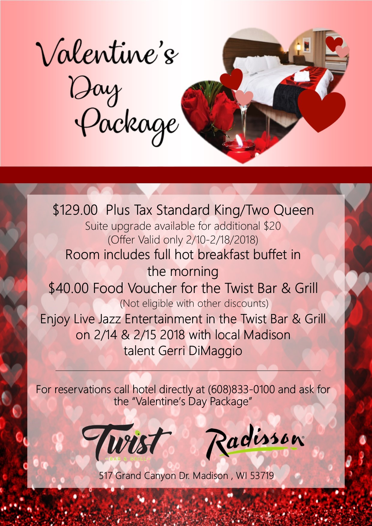 member to member deal view business info valentines day package
