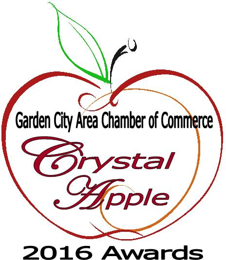 crystal apple teacher recognition awards care garden city area chamber of commerce ks