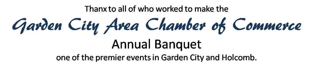 Annual Banquet Garden City Area Chamber Of Commerce Ks