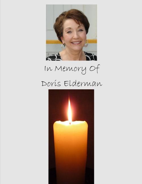 Doris Elderman Memorial Services