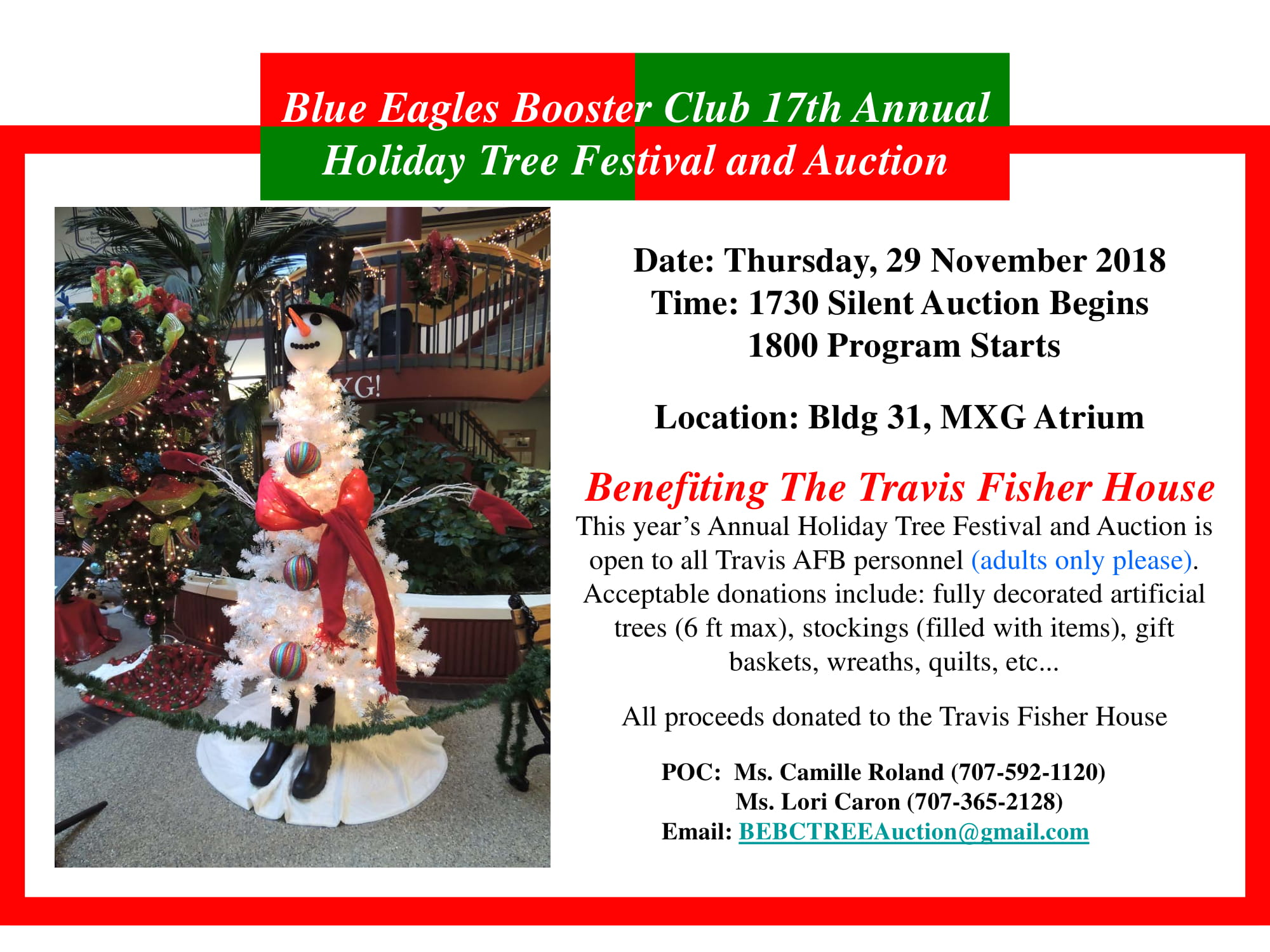 Blue-Eagles-Booster-Club-17-Annual-Holiday-Tree-Festival-and-Auction-2018