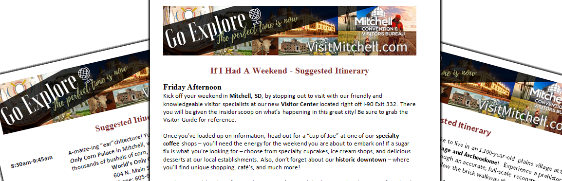 Mitchell SD Itineraries