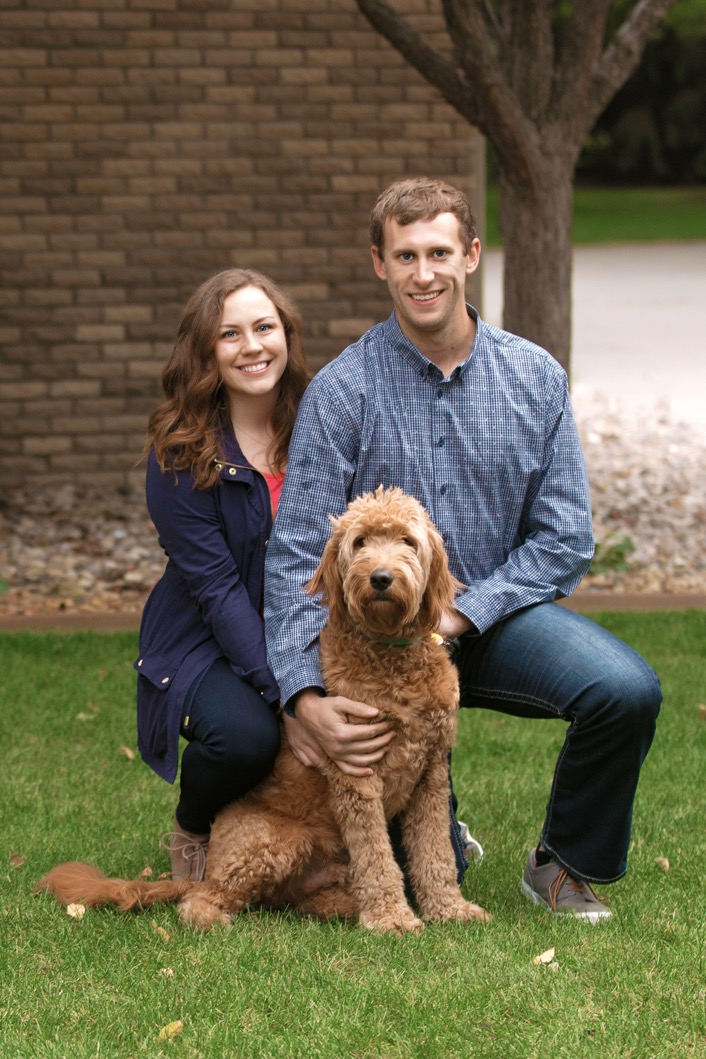 Mollie and Brent Greenway with Copper, in Mitchell, SD.