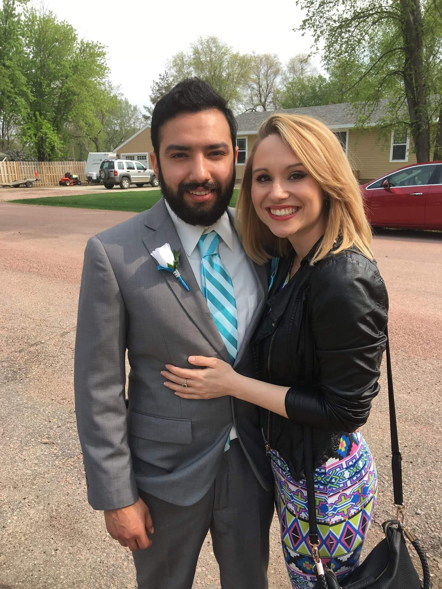 Juan Suarez and Megan Reimnitz in Mitchell, SD