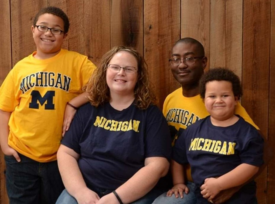 The Russell family: Malachi, Toni, Melick and Micah
