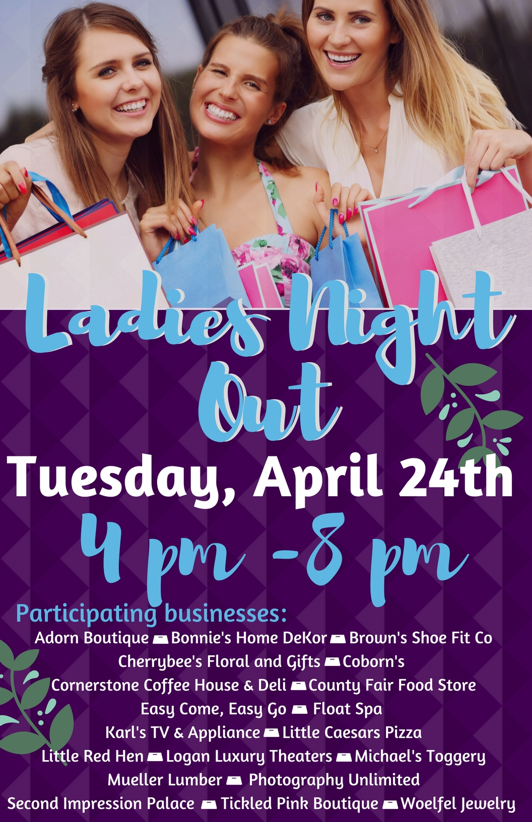 ladies night out mitchell area chamber of commerce sd