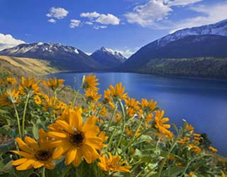 Beautiful Wallowa Lake Scene