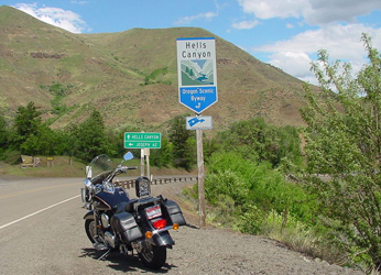 South entreance, Hells Canyon Scenic Byway