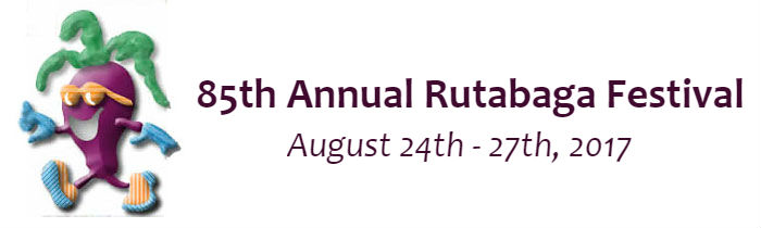 85th Annual Rutabaga Festival - August 24th - 27th, 2017