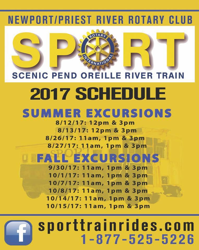 SPORT train schedule 2017