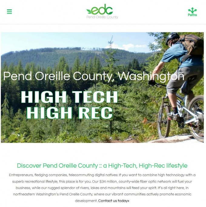 Pend Oreille County: High Tech. High Rec!