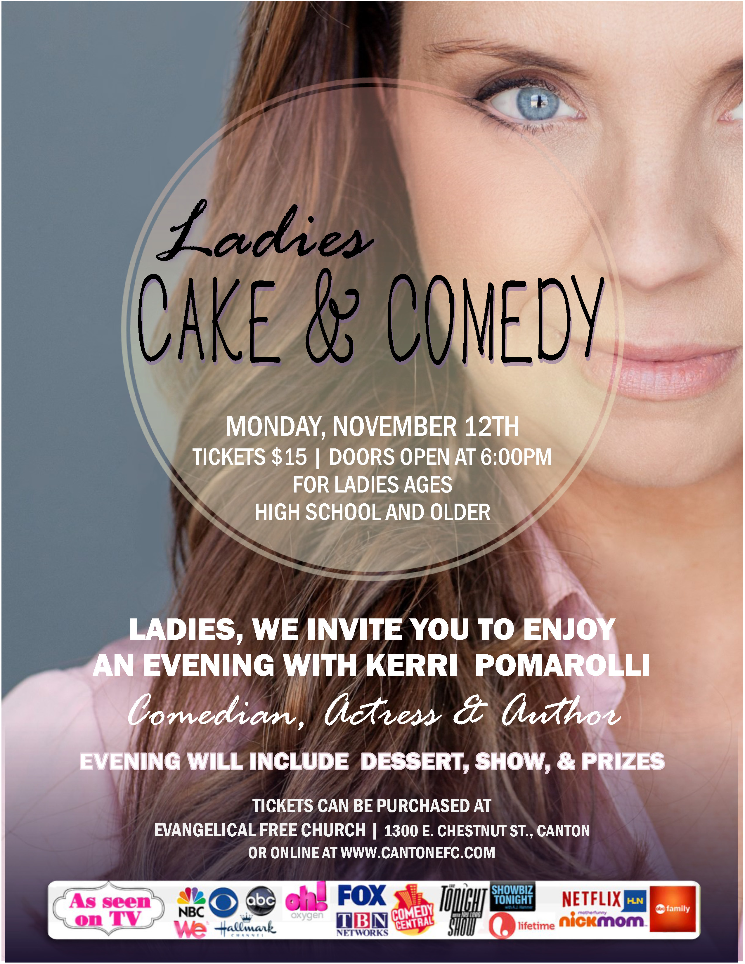 Ladies Cake Comedy Night At E Free Church In Canton Nov 12 2018