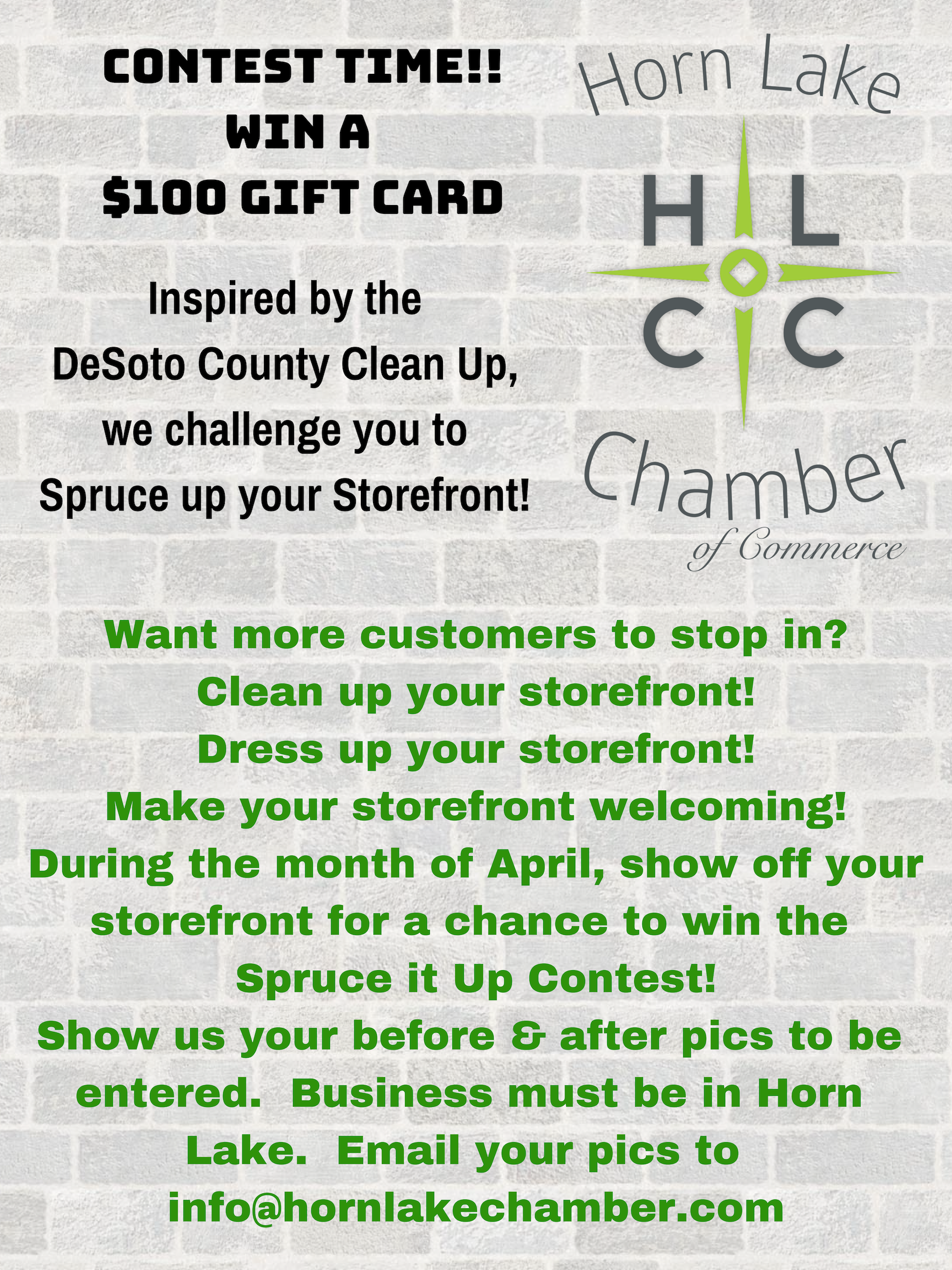 Spruce up Storefront contest