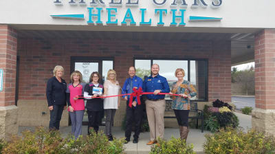 Three Oaks Health had their ribbon cutting. They have grown so much since they open that they are already expanding! Congrats Dr. Milford and the Three Oaks Health Team!