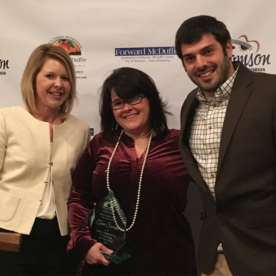 Tina Swann - 2017 Mike Carrington Volunteer Award recipient