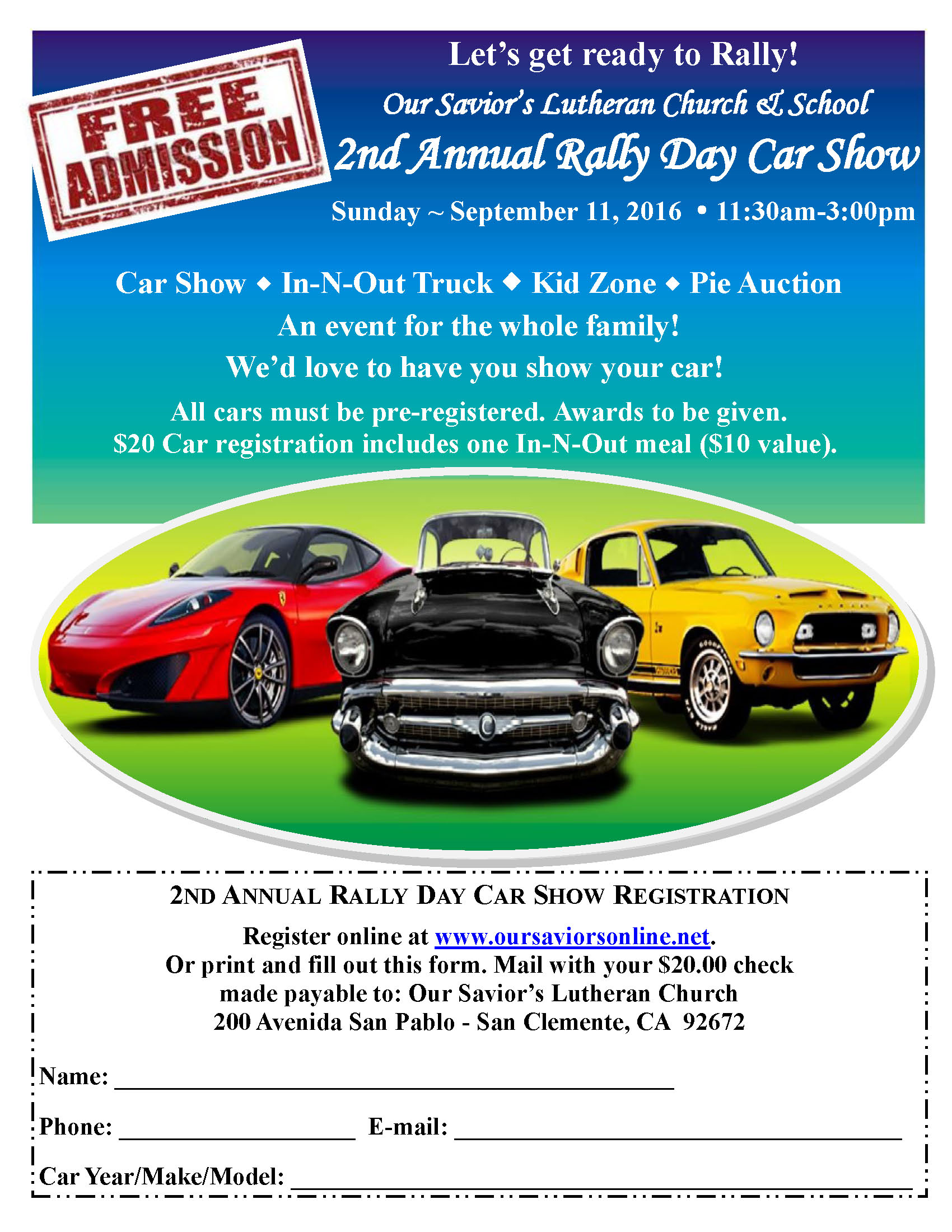 2nd Annual Rally Day Car Show - San Clemente Chamber of Commerce, CA