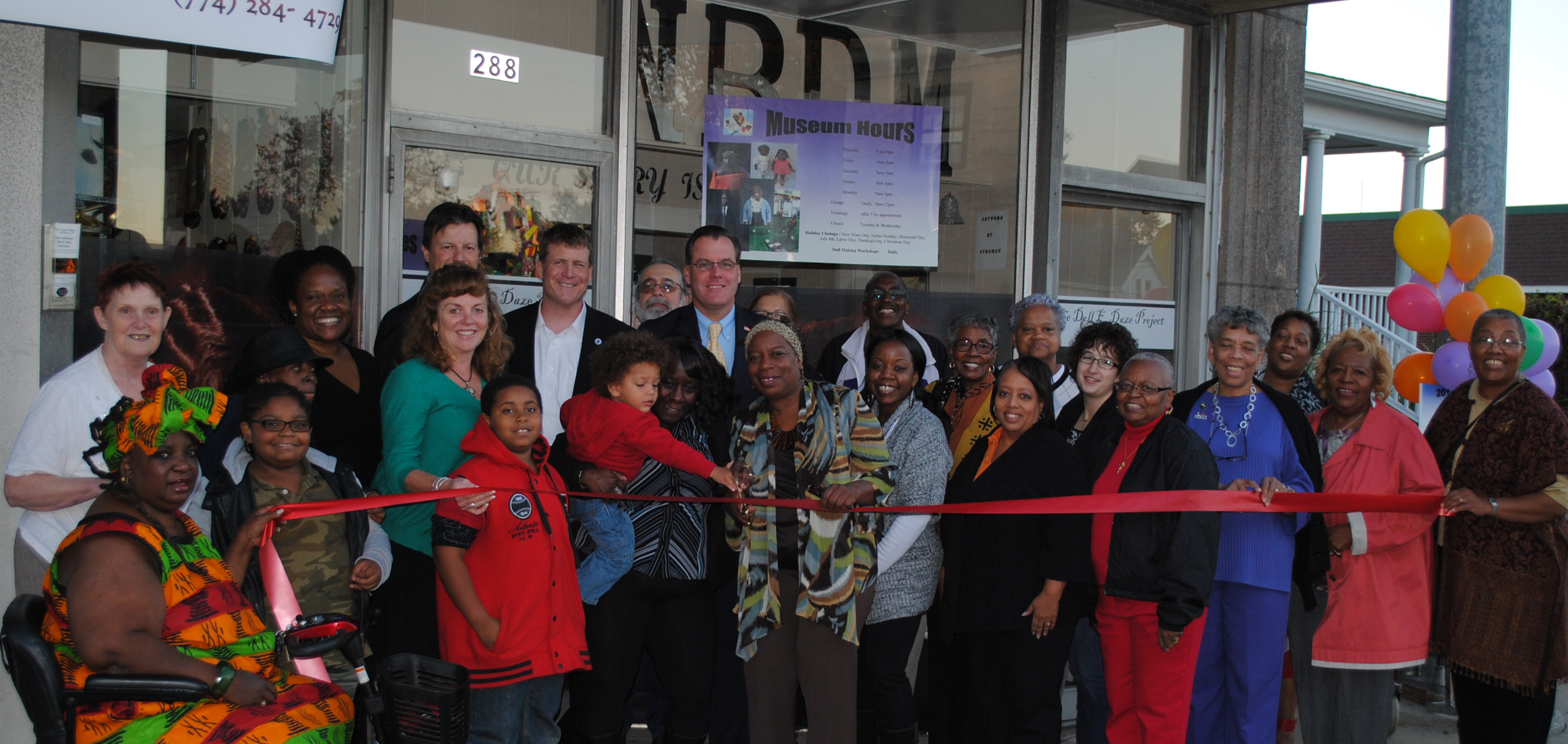 Ribbon Cutting National Black Doll Museum | Mansfield Mass
