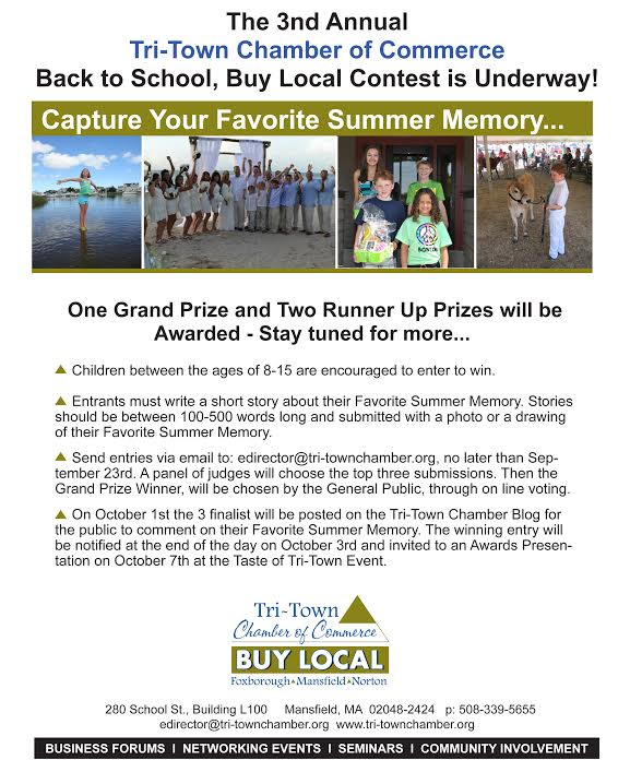 2014 Tri-Town Chamber Favorite Summer Memory Contest