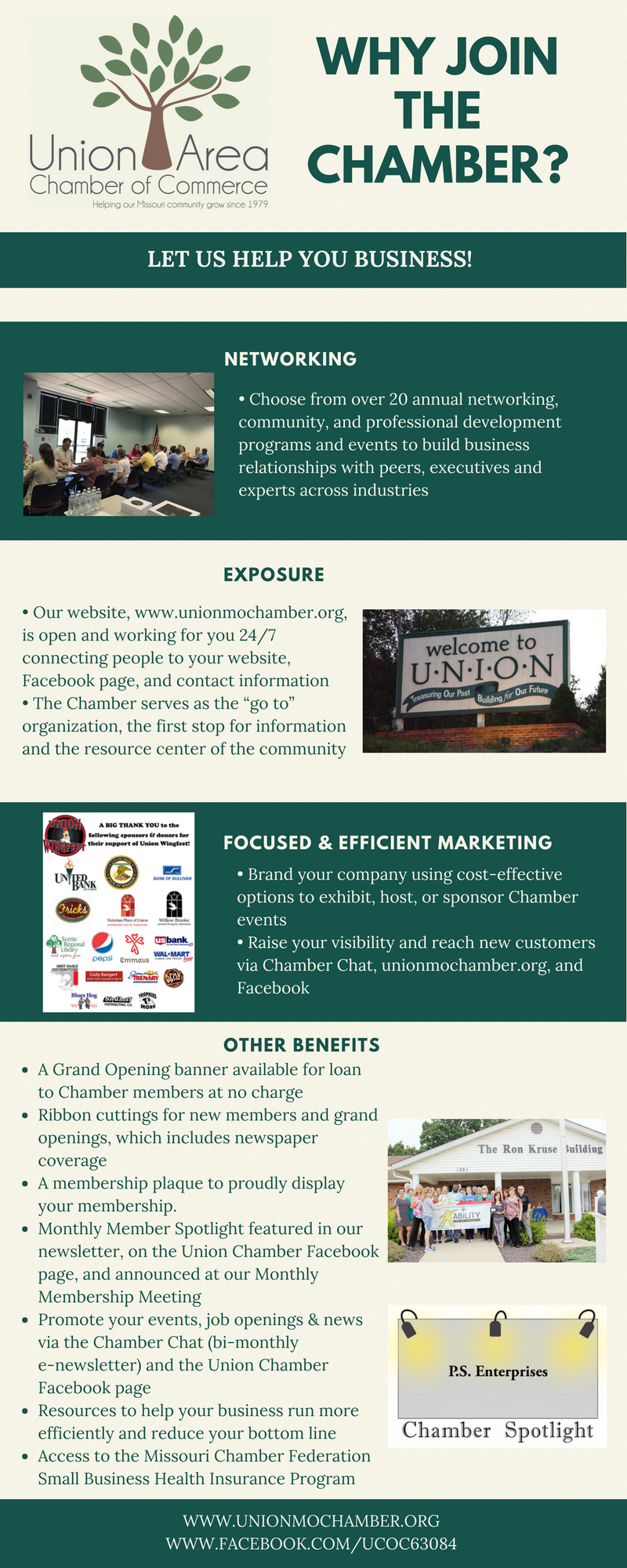 Reasons to join the Chamber infographic