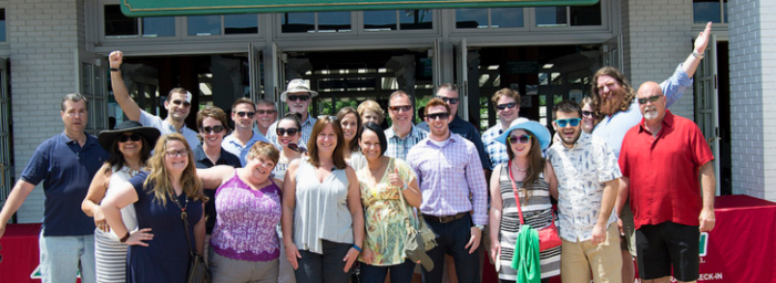 Chamber members at Arlington Park at a social outing in 2015.