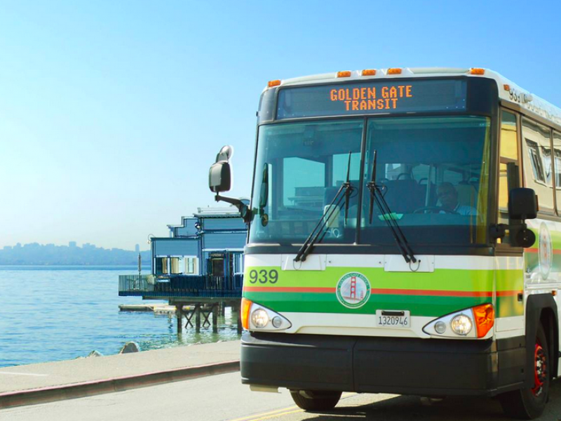 Golden Gate Transit Bus Sausalito