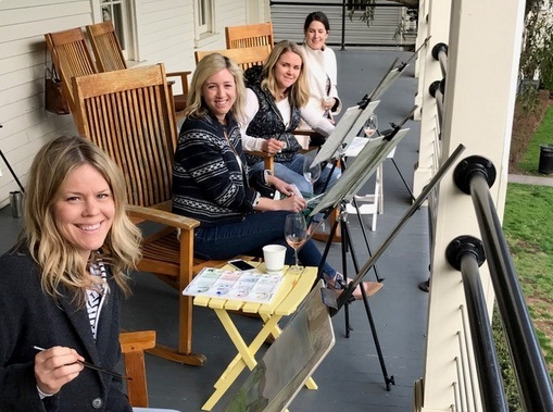 Lucinda Eubanks Watercolor Class Cavallo Point