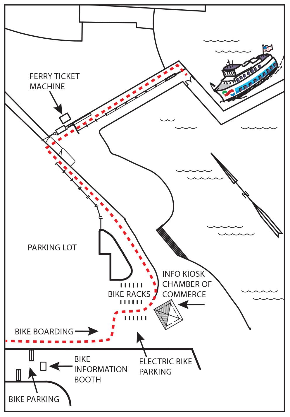 Sausalito biking map
