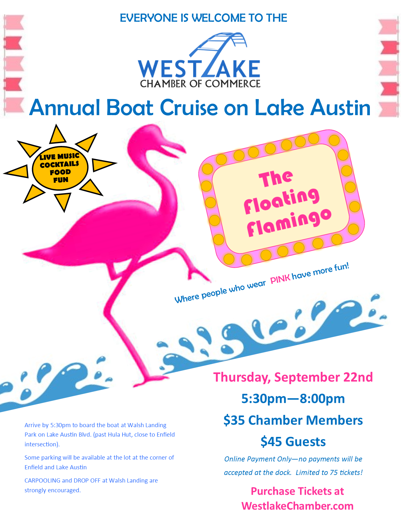 Annual Boat Cruise on Lake Austin