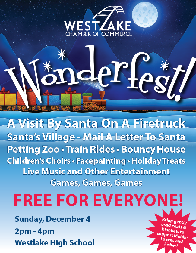 Wonderfest at Westlake HS Dec 4 2-4pm FREE