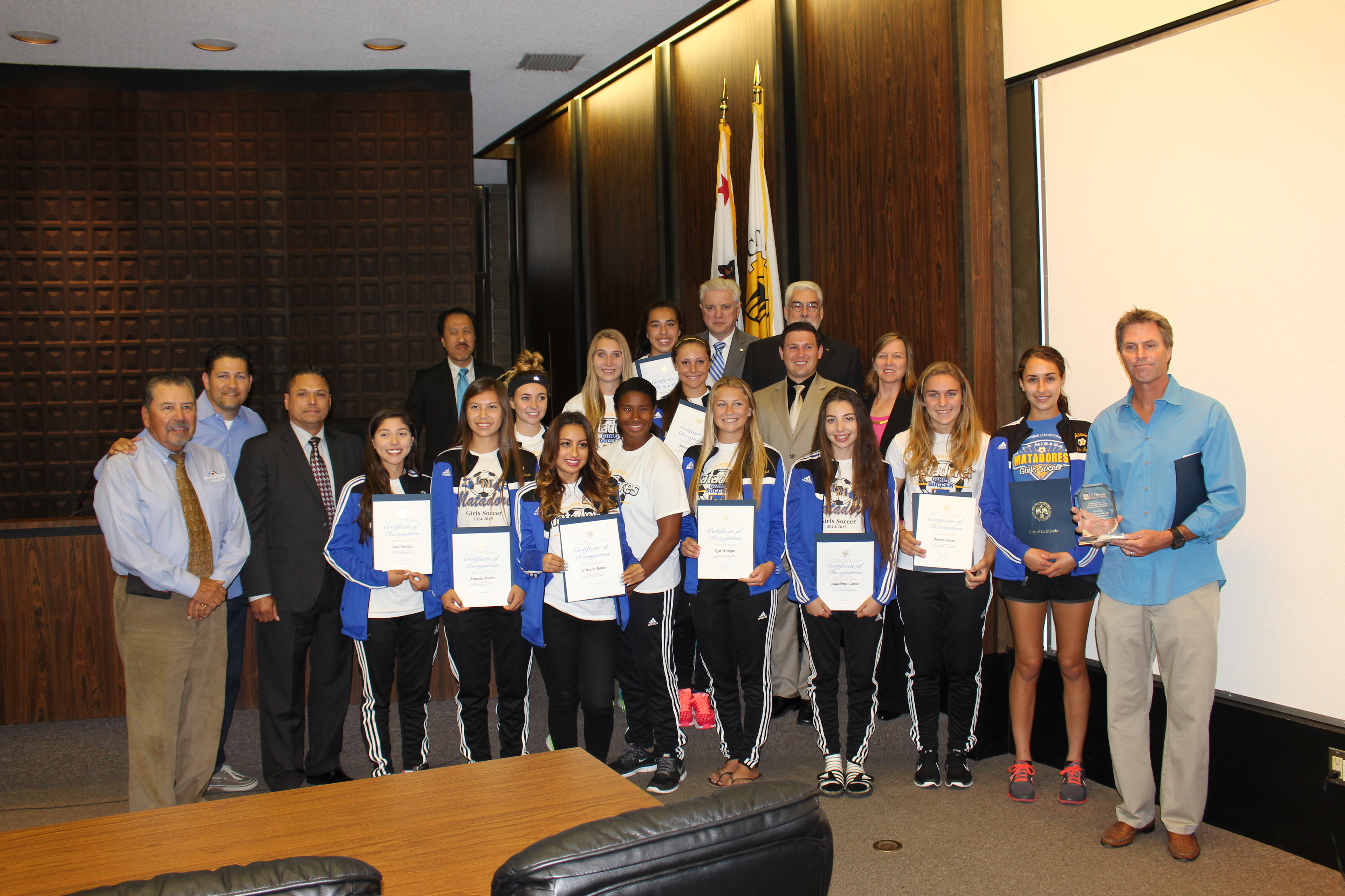 Girls Soccer CIF Champions Recognition