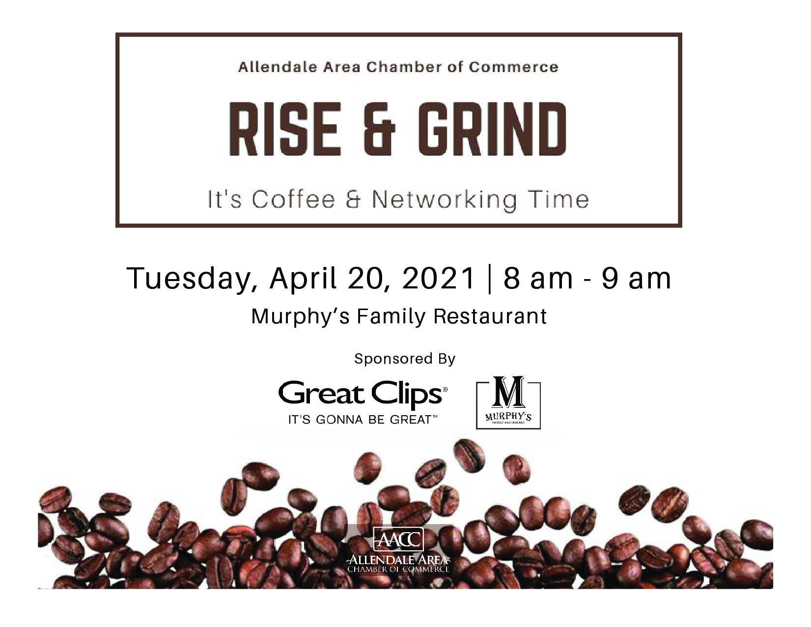 Rise & Grind: It's Coffee and Networking Time 4/20/2021