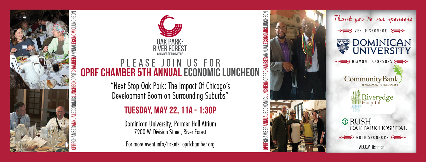 2018 4th Annual Economic Luncheon on 5/22, 11A-1:30P @ Dominican University In River Forest