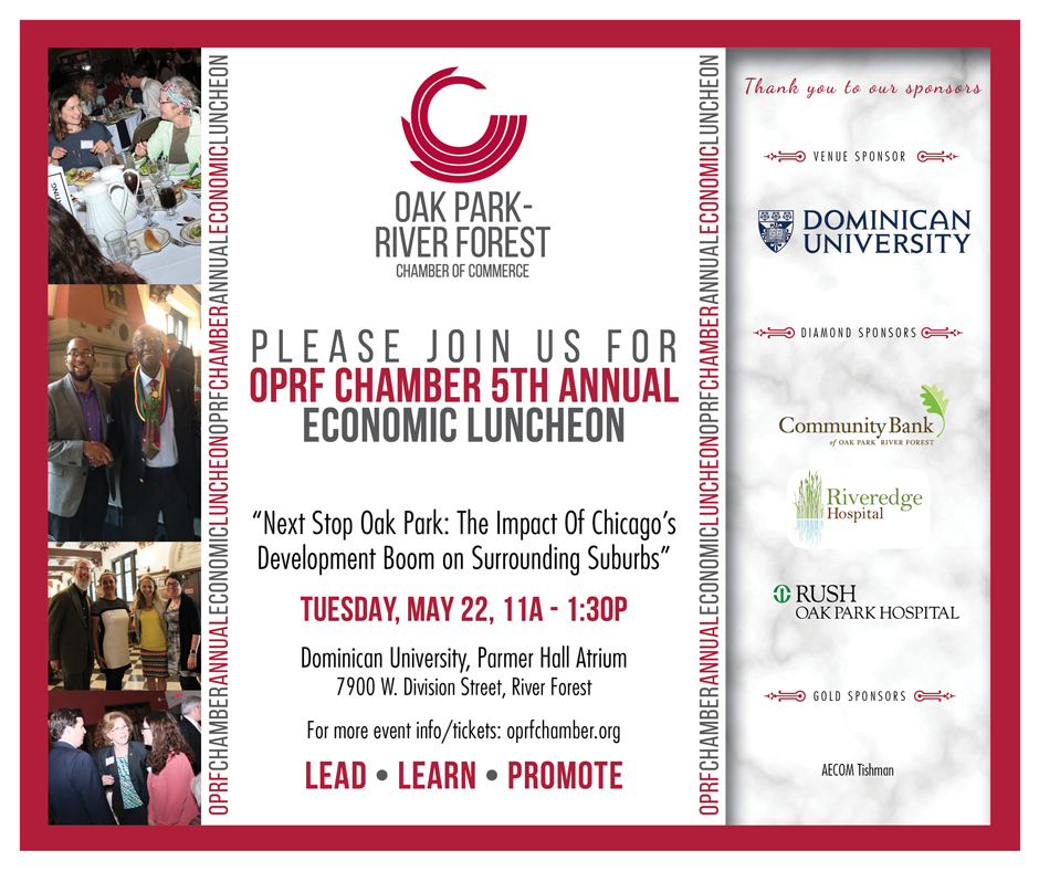 5th Annual Economic Luncheon on 5/22 @ Dominican University in River Forest from 11A-1:30P
