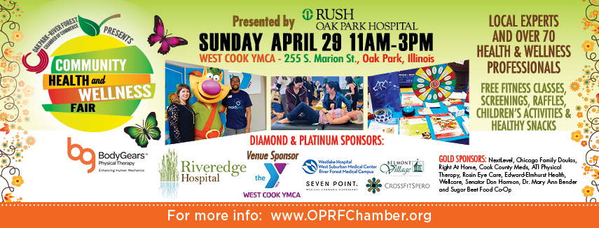 2018 Community Health & Wellness Fair on 4/29, 11A-3P - FREE + Open To The Public!