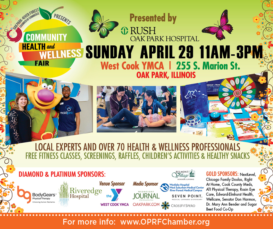 2018 Community Health & Wellness Fair @ YMCA on 4/29, 11A-3P - FREE + Open To The Public!