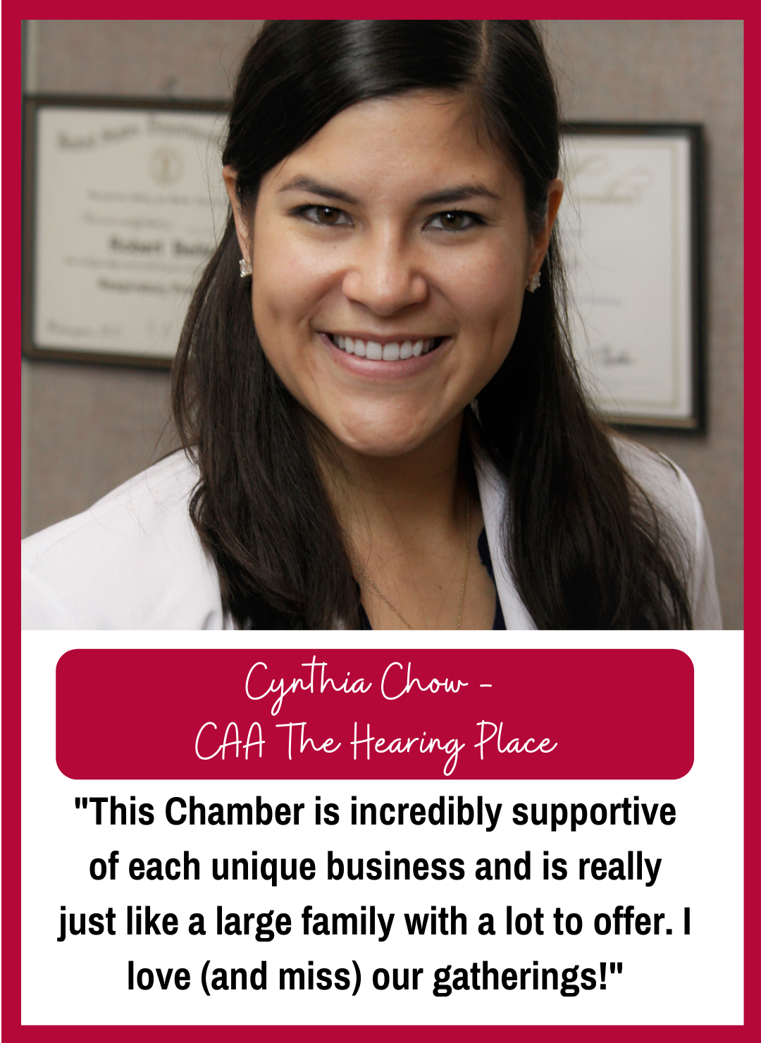 Dr. Cynthia Chow - CAA The Hearing Place